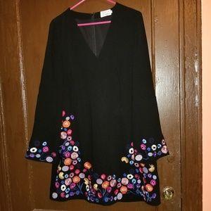 Tanya Taylor embroidered crepe nyla dress nwot
